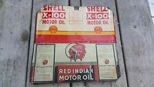 Authentic Red Indian Oil Can Motor / Shell Motor Oil  can  Hanger Free Shipping!