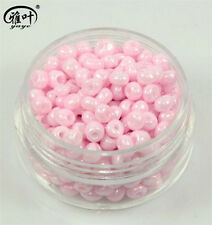 New DIY 150Pcs 4mm Pink Czech Glass Spacer Loose Beads bracelet Jewelry Making