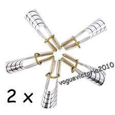 10x wiederverwertbar Schablonen französisch Nagel Form für Acryl UV Gel