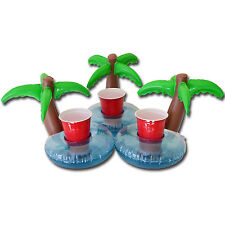 Palm Tree Drink Holders - Inflatable - Perfect for Pool Parties ***3 PACK***