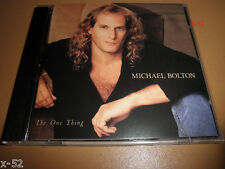 MICHAEL BOLTON the ONE THING cd LEAN ON ME said i loved you but i lied COMPLETLY