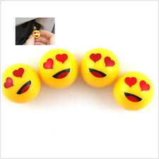 4 Pcs Red Hearts eyes Car SUV Wheel Tire Valve Stem Air Dust Caps Cover For Golf