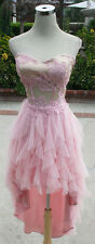 NWT NIGHTS $140 Pink Hi-Lo Prom Party Evening Dress 11
