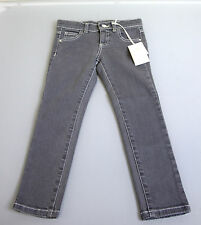 New Authentic Gucci Kids Girls/Boys Jeans Pants sz 4 w/Crystal Script Gray