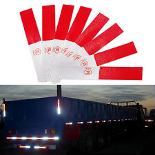 DIY 5Pc Auto Car Truck Reflector Sticker Collision Avoidance Safety Warning NEW
