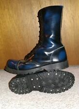 Underground Rangers Steel Toe boots 11 shoes cap shellys getta grip black blueOi