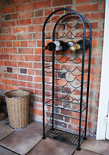 21 Bottle Wine Rack, wrought iron