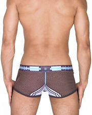 CROOTA Mens Underwear Boxer Briefs, Low Rise Hipster, Brown, Medium