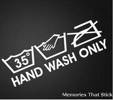 HAND WASH ONLY Funny Car Window Bumper JDM DUB VAG VW Vinyl Decal Sticker
