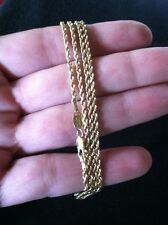 "14K GOLD DIAMOND CUT ROPE CHAIN NECKLACE MICHAEL ANTHONY 24"" LONG 6.7 GRAMS"
