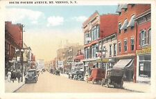 c.1920 Stores Early Cars South 4th Ave Mt. Vernon NY postcard Westchester County