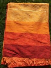 LARGE CHENILLE AND CACTUS SABRA SILK THROW/ BLANKET FROM MOROCCO Moroccan Throw