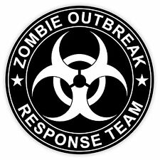 Zombie Outbreak Response Team vehicle etichetta sticker 12cm x 12cm