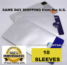 10pcs Credit Card Protector Secure Sleeves RFID Blocking ID Holder Foil Shield