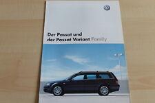 93587) VW Passat + Variant Family Prospekt 12/2002