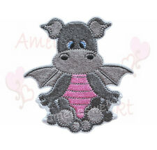 Dragón gris Pink aufbügler Patch perchas imagen Patch sticker Dragon Patch Dino
