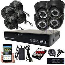 Sikker Standalone 4Ch 720P DVR Recorder Megapixel Security Camera System 500GB