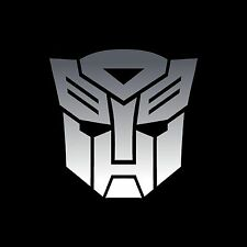 TRANSFORMERS Autobots decals stickers 3 x 3 inch Chrome vinyl 2 decals