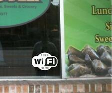 "2 ""Free WiFi Here"" Window Decals Wi Fi"