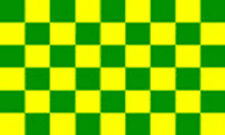 5' x 3' Green and Yellow Check Flag Checkered Checked Banner