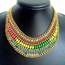 Gold Bib Bubble Fashion Collar Chain African Necklace