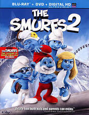 THE SMURFS 2 II BLU RAY & DVD MOVIE COMBO PACK 2 DISC SET ANIMATION FREE SHIP