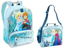 DISNEY STORE FROZEN ANNA ELSA OLAF LIGHT-UP SCHOOL BACKPACK LUNCH TOTE BOX
