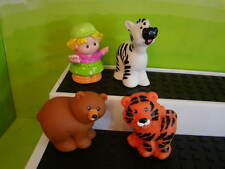 Fisher Price Little People Baby Zoo Animals 1998 Bear Tiger Girl Keeper