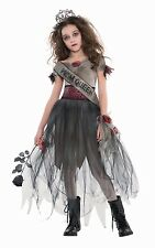 Prombie Queen Teenage Halloween Fancy Dress Costume Girl Prom Dress 12-14 Years
