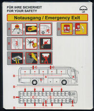 SAFETY CARD for BUS no logo but on Flixbus MAN automotive leaflet sc685 ax