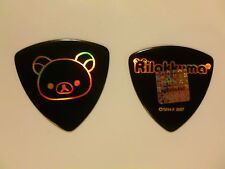 RILAKKUMA - Guitar Pick - BLACK w/PRISMATIC INK - san-x - NEW - Japan 2007 Rare
