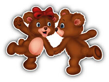 Cute Bear Couple Dancing Car Bumper Sticker Decal 5'' x 4''