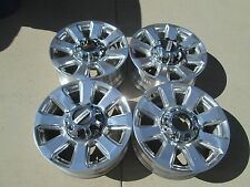 "20"" FORD F250 F350  FACTORY OEM  FACTORY WHEELS RIMS PLATINUM POLISHED"