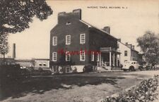 Postcard Masonic Temple Belvidere NJ New Jersey