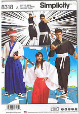 Japanese Anime Kimono Hakama Pants Costume Men Misses Teens Sewing Pattern XS-XL