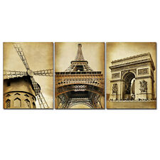 Canvas Print Photo Vintage World Attractions Painting Pictures Poster Art Framed