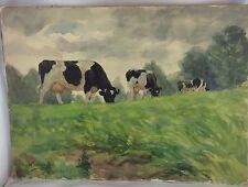 """Aquarell """"Kühe auf der Weide"""", Otto Wiedemann signiert 1927, Schüler von Zügel"""