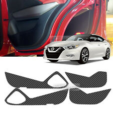 Carbon Black Door Decal Sticker Cover Kick Protector For NISSAN 2016 MAXIMA
