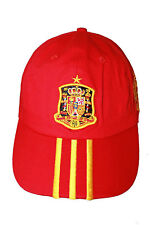 SPAIN RED WITH YELLOW STRIPES COUNTRY FLAG EMBOSSED HAT CAP .. NEW