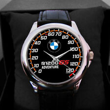Special Edition BMW R-1200 GS Speedometer Men's Accesories Leather Sport Watch