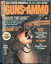 Vintage Magazine GUNS & AMMO November 1972 !!! BAR-STO SS-25 .25 ACP PISTOL !!!
