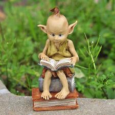 Miniature Garden Pixie Reading a Book / Fairy Gnome Hobbit Garden TO 4318