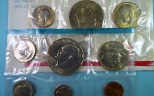 U.S. 1975 P/D   EISENHOWER DOLLAR 6-COIN  MINT SETS, Philadelphia & Denver Coins
