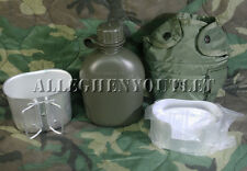 Military 4Pc Set 1 Quart Canteen 1QT Canteen Cover & Aluminium Cup w/ Stand NEW