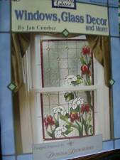 Windows, Glass Decor & More Book -Cumber, Stained Glass- Flowers, Fruit, Roo