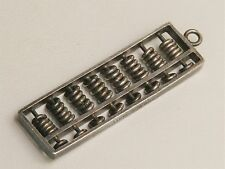 "Japanese 1 1/2"" Sterling Silver Abacus Charm Pendant"