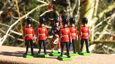 Britains 7238 Metal Toy Soldiers Models Scots Guard Bag Piper & 5 Men Guards #1