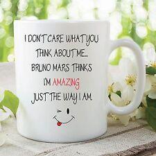 Funny Novelty Mug Office Work Joke Bruno Mars Amazing Ceramic Cup Gift WSDMUG82
