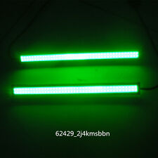 "2pcs 17CM 6.7"" COB Green Car LED DRL Fog Lamp Driving Daytime Running Light Bar"