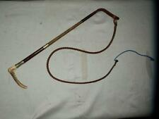 ANTIQUE LADIES 2 NICKEL SILVER COLLARS HUNT WHIP AND LASH.